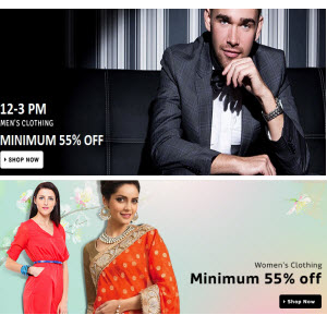 Flipkart : Get minimum 50% off on Clothing starting from 199