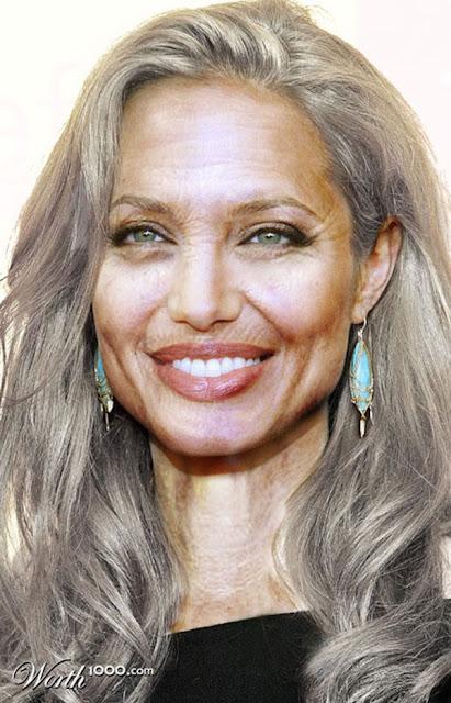 Celebridades 30 anos mais velhos - Photoshop