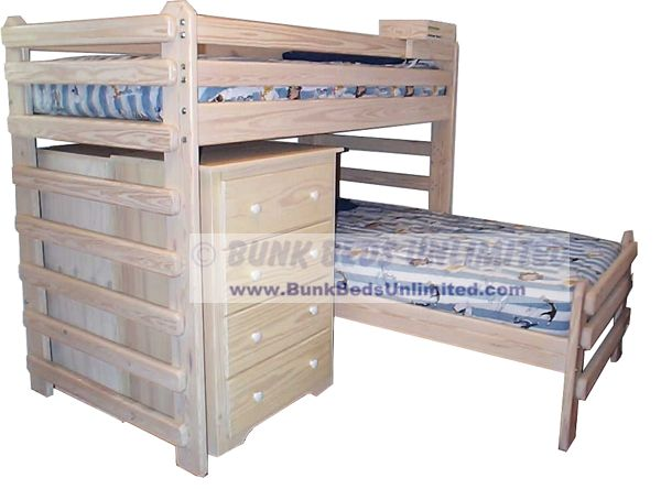 ... the L-Shape bunk bed, which is a loft bed with a twin bed underneath