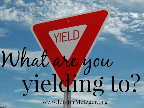 What are you yielding to? #w2wwordfilledwednesday #HolySpirit #encouragement