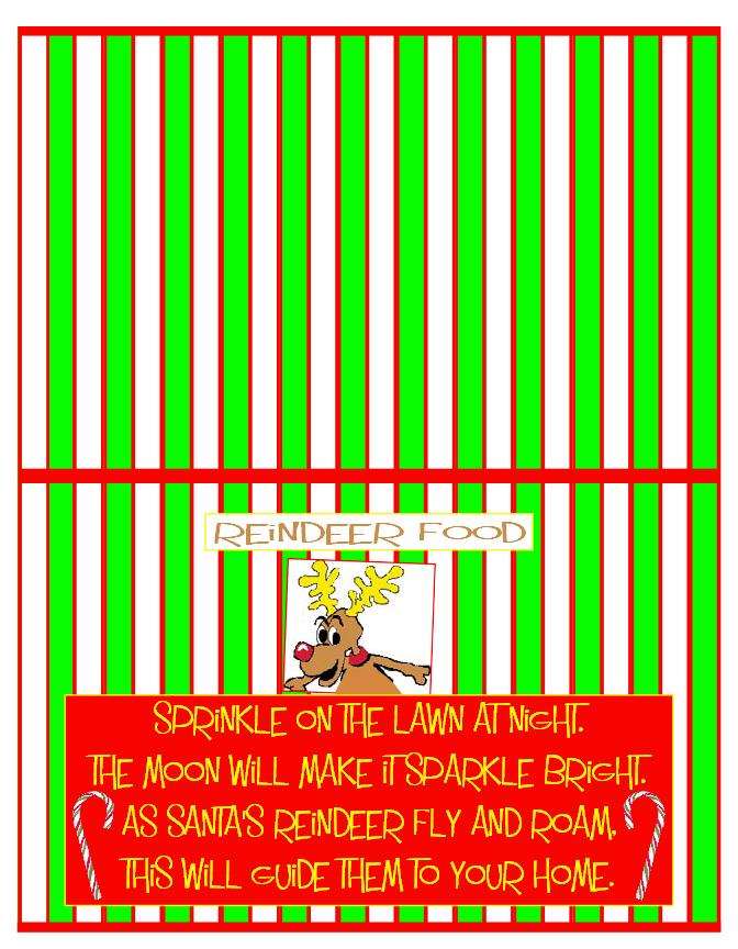 Reindeer Food Poem Labels Images & Pictures - Findpik