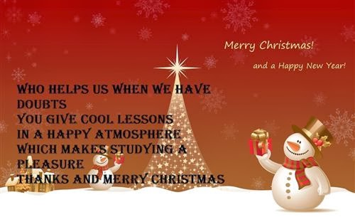 Meaning Christmas And New Year Wishes For Teachers