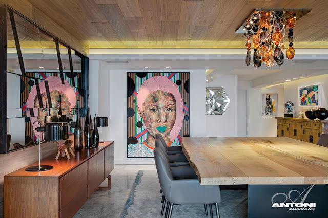 Picture of the art in the dining room