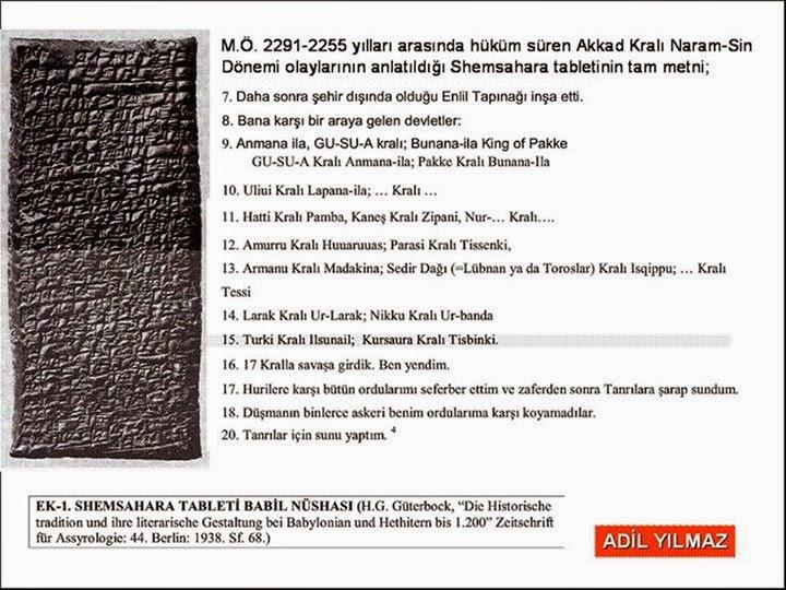 Shemsahara tableti Babil nüshası - Adil Yılmaz