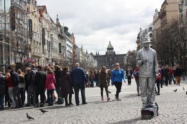 Вацлавская площадь, Прага, Чехия.