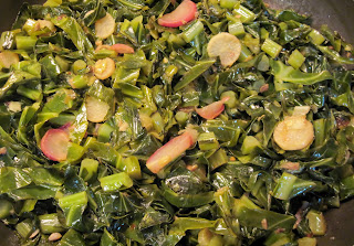 collards and radishes