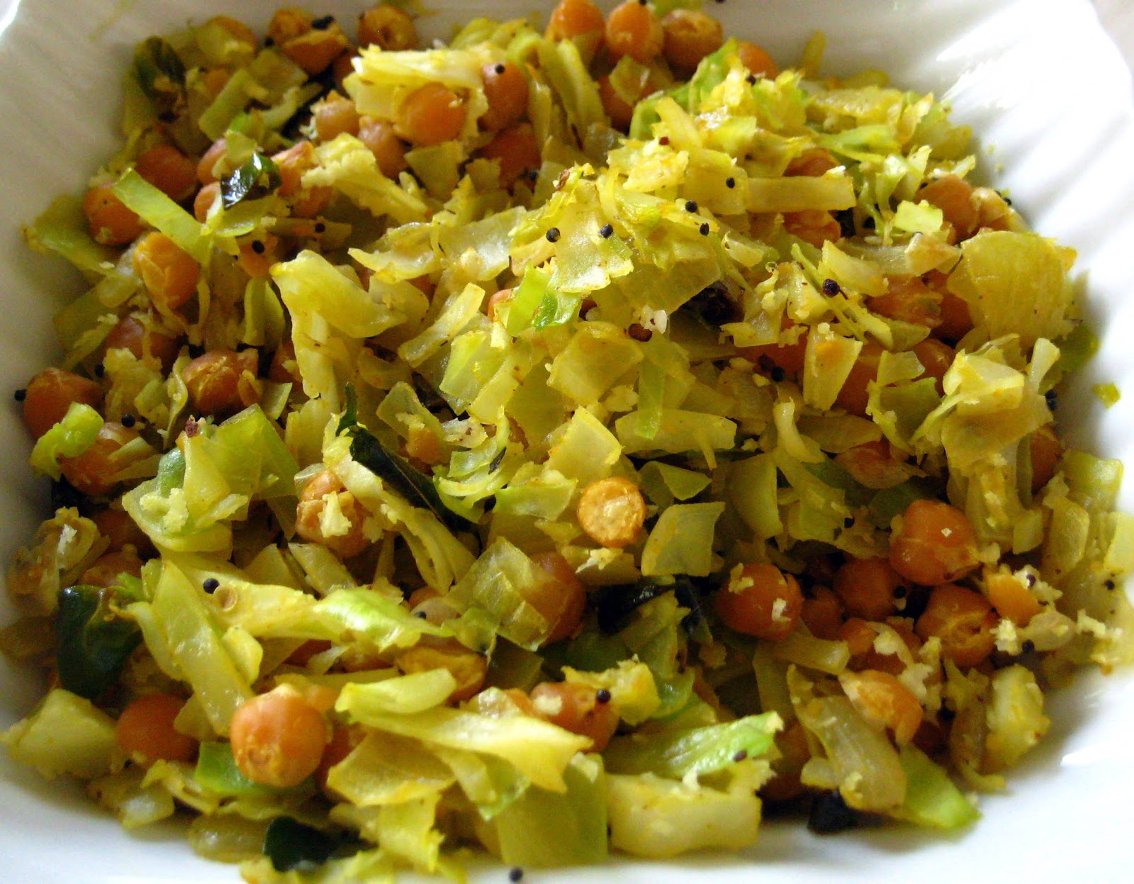 Dry-Cooked Cabbage With Tofu And Peas Recipe — Dishmaps