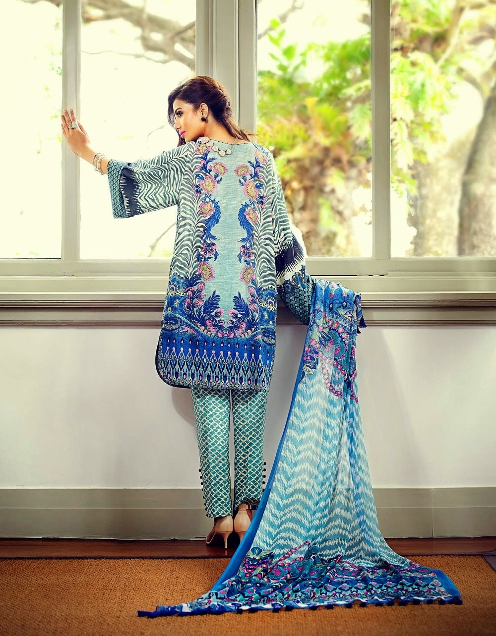 Pakistani new lawn collection 2015