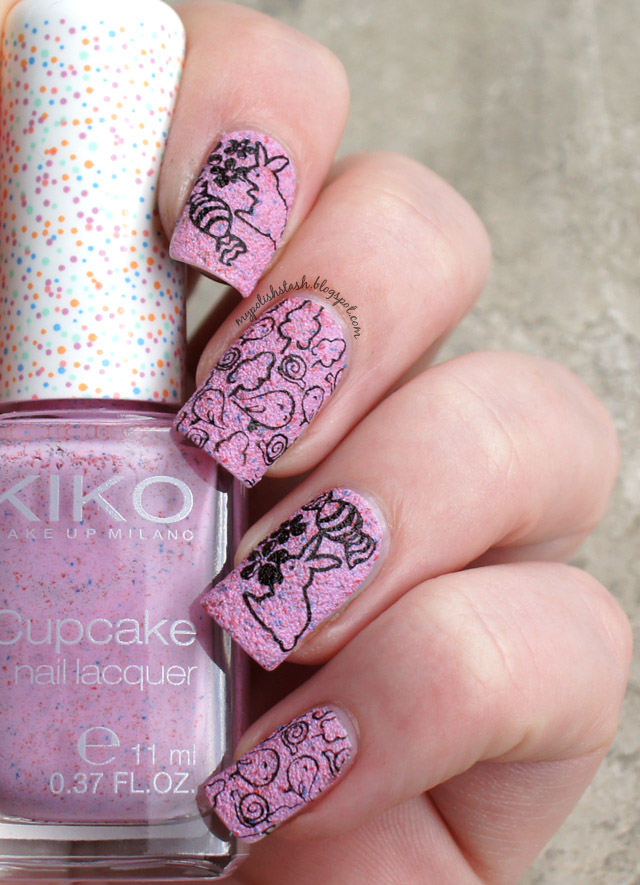 Easter stamping nail art