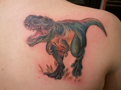 Tatuagem de Tiranossauro Rex