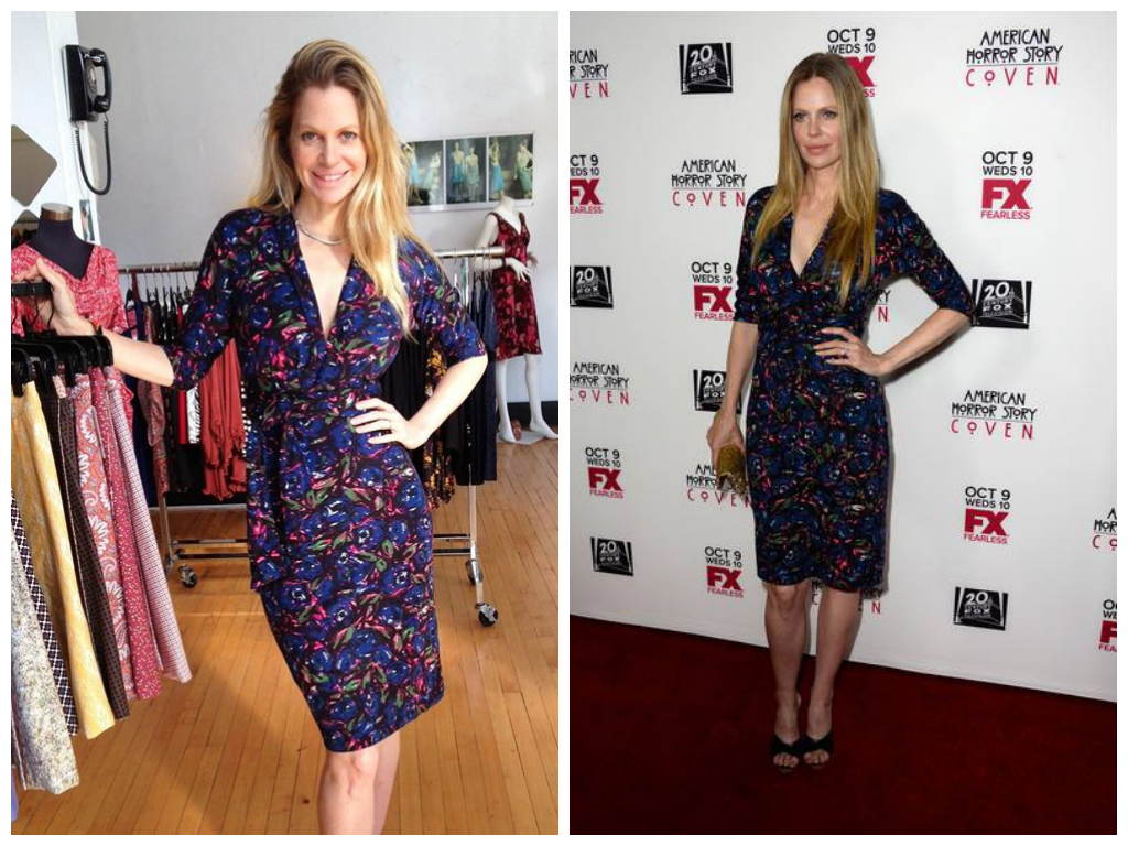 Kristin Bauer van Straten in a Ruby Couture dress at Folly and the American Horror Story premiere