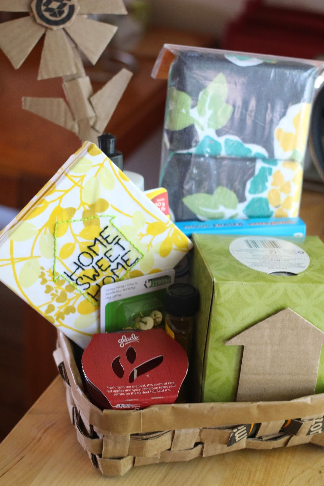 The Experimental Crafter Simple Housewarming Gift Basket