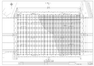吊足場 平面図