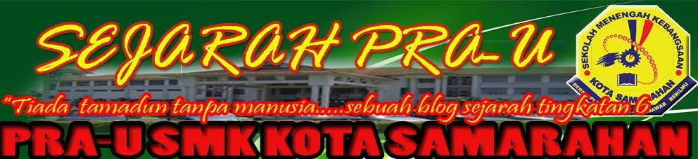 Sejarah Pra-U SMK Kota Samarahan