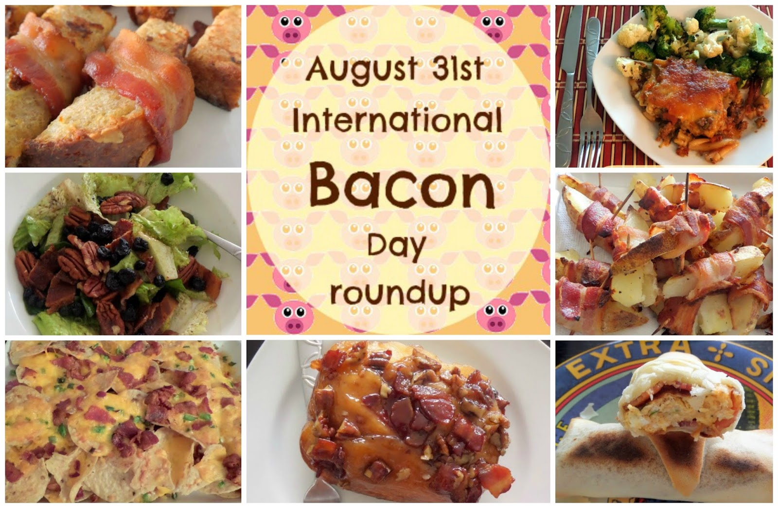 Bacon Day Roundup:  My favorite bacon recipes all in one place for International Bacon Day