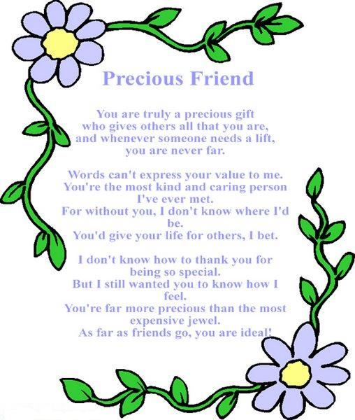 New english poetry precious friend ~ Welcome to World Poetry Site