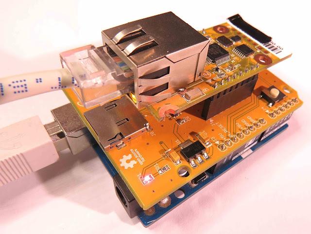 Arduino UNO plus ioShield-A plus WIZ550io shield