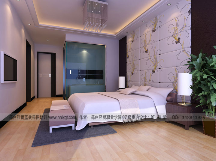 purple master bedroom design