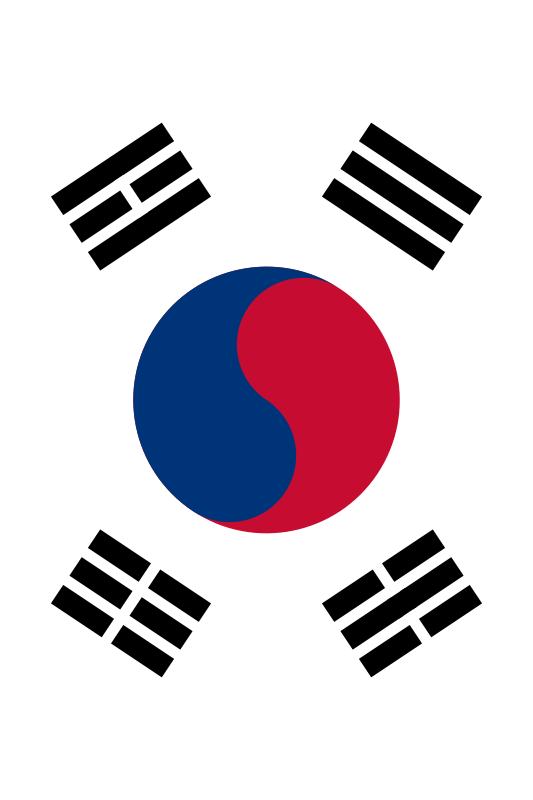 bandera de Corea del Sur para imprimir