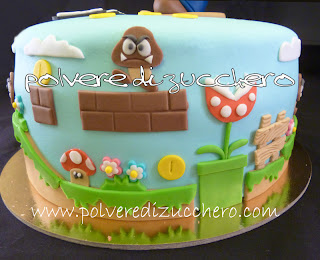 torta super mario bros in pasta di zucchero polvere di. Black Bedroom Furniture Sets. Home Design Ideas