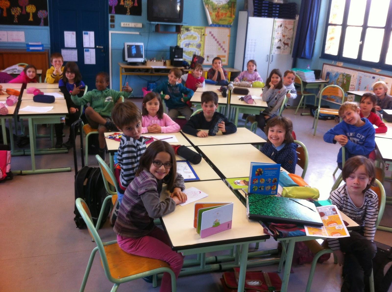 Trois jours de rencontres, près de chez moi, dans plusieurs écoles à Saint- Rémy, Magny les Hameaux et Le Mesnil St Denis, autour de mon album L'Oeil du.