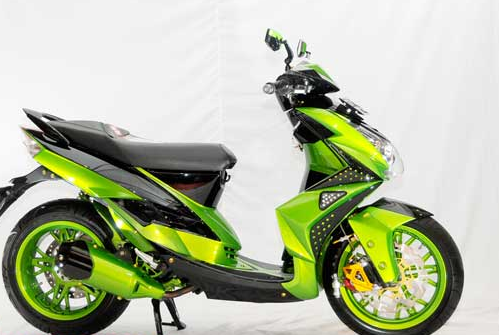 Modifikasi mio j warna hijau yamaha motor matic