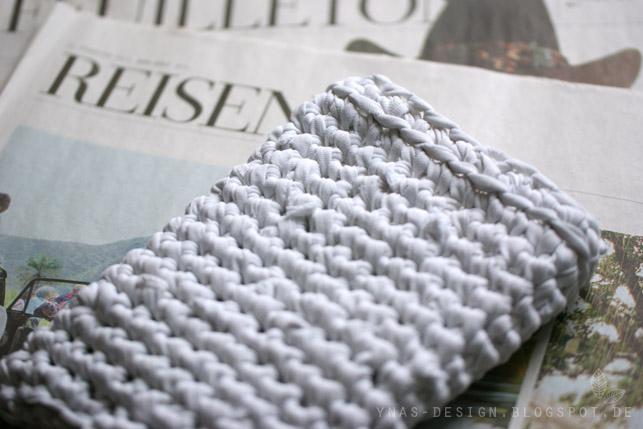 Ynas Design Blog, E-Book Tasche, gehäkelt