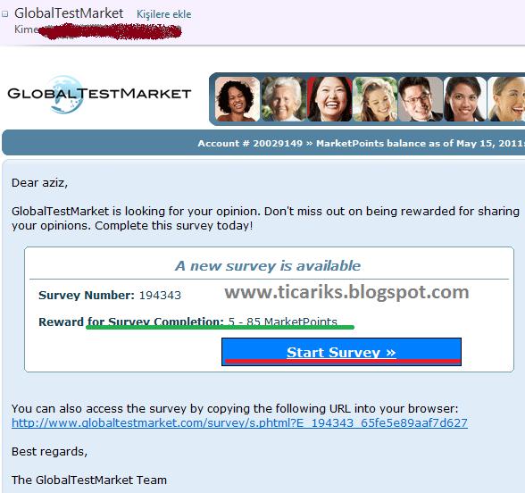 Globaltestmarket login