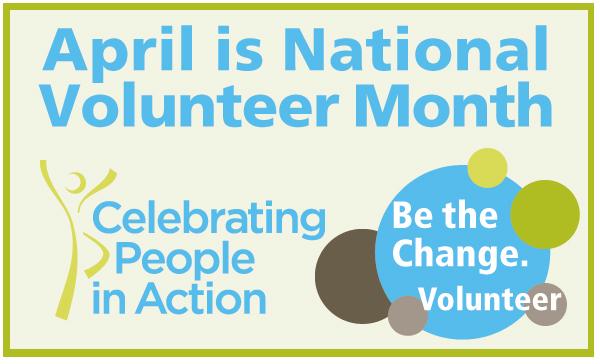 Bunny's Blog: April is National Volunteer Month