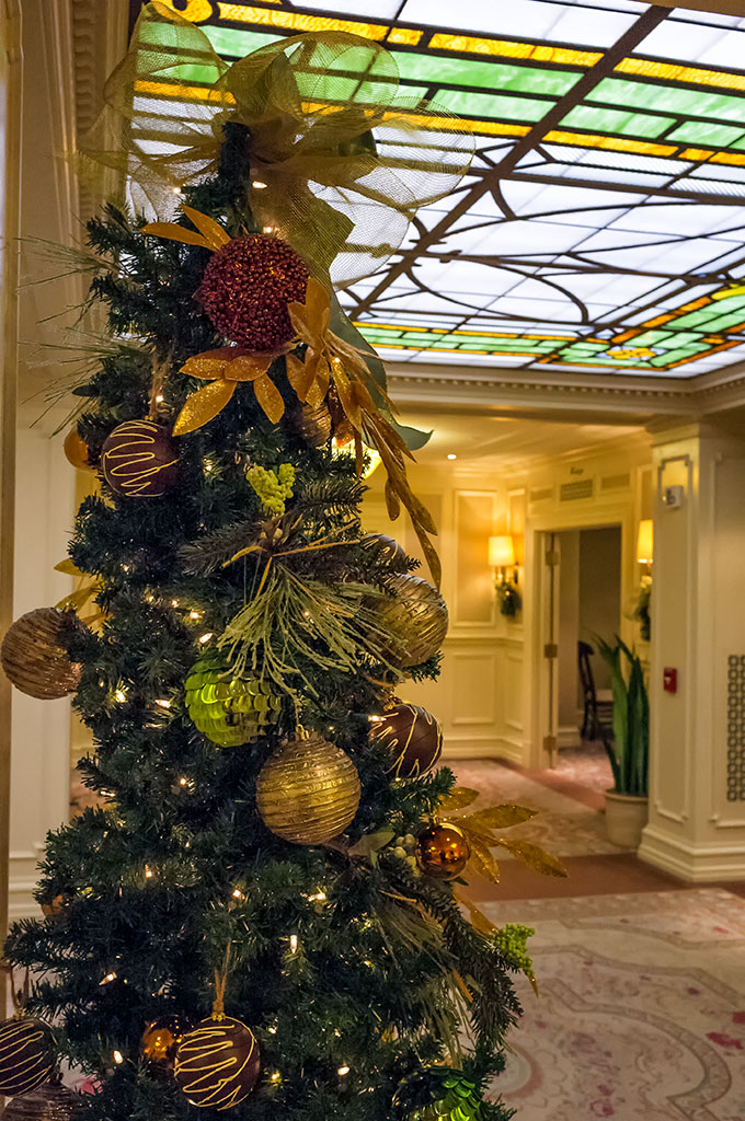 Lobby of Hotel Hershey at Christmas