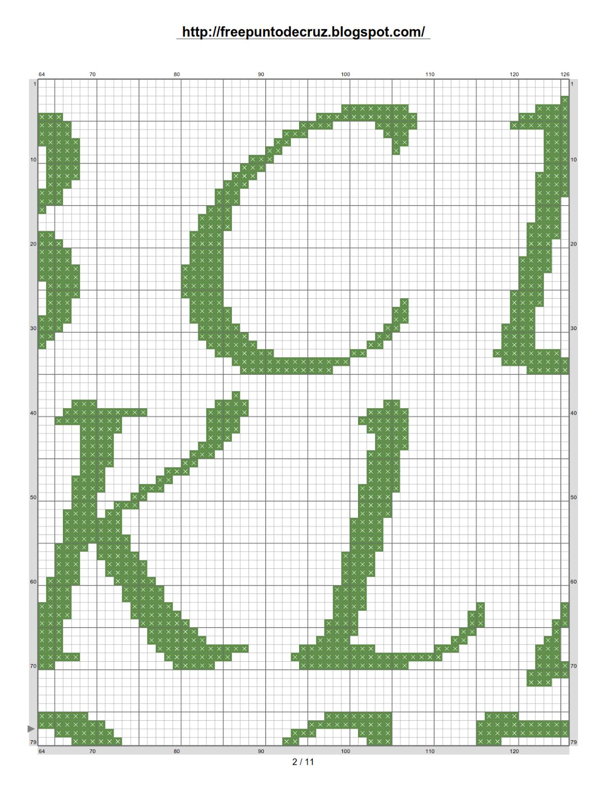Dibujos punto de cruz gratis abecedarios - Videos de punto de cruz ...