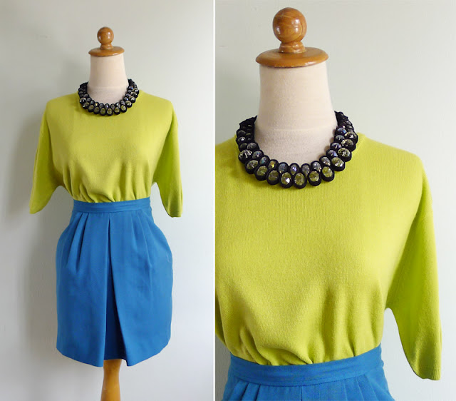 vintage 80's bold slouchy knit top