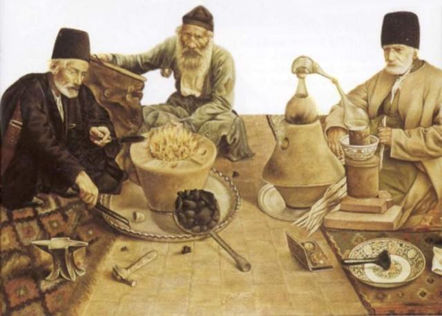 Grabados y dibujos alquimicos- Alquimistas