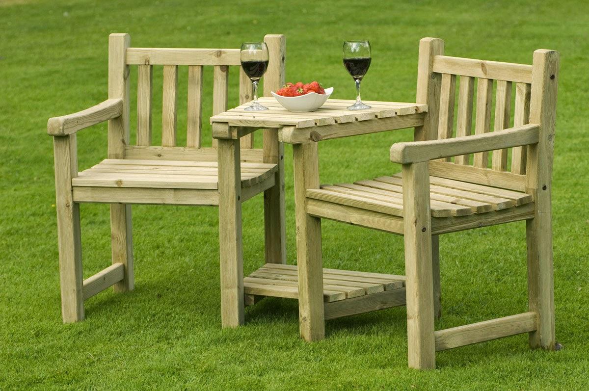 Fotos de muebles de madera para jardin for Muebles jardin madera palet