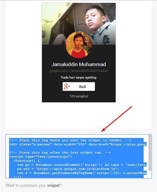 Cara Mengatasi Masalah Google+ Badge Tidak Muncul Di Blog