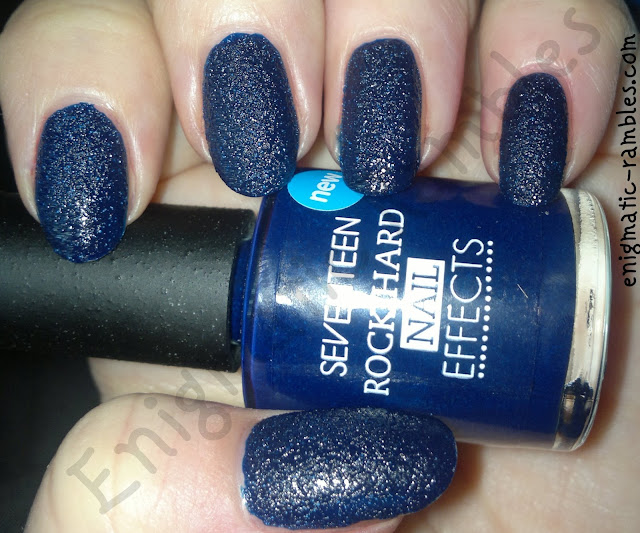Enigmatic Rambles: Swatch: Seventeen (17) - Rock Hard Nail Effects Blue