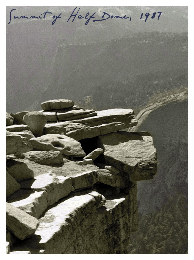 Summit of Half Dome, Diving Board Rocks, 1987