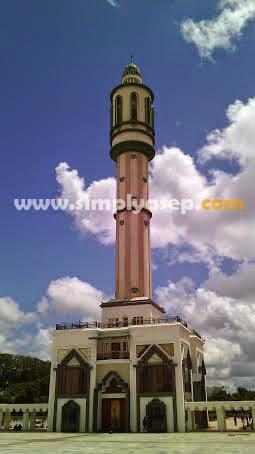 Salah satu sudut Menara Masjid Raya Mujahidin Pontianak