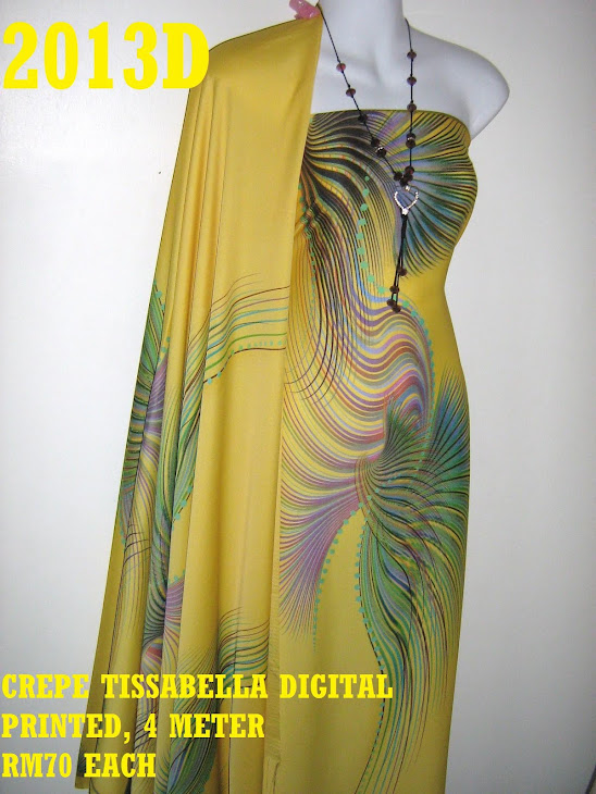 CTD 2013D: CREPE TISSABELLA DIGITAL PRINTED, EXCLUSIVE DESIGN, 4 METER