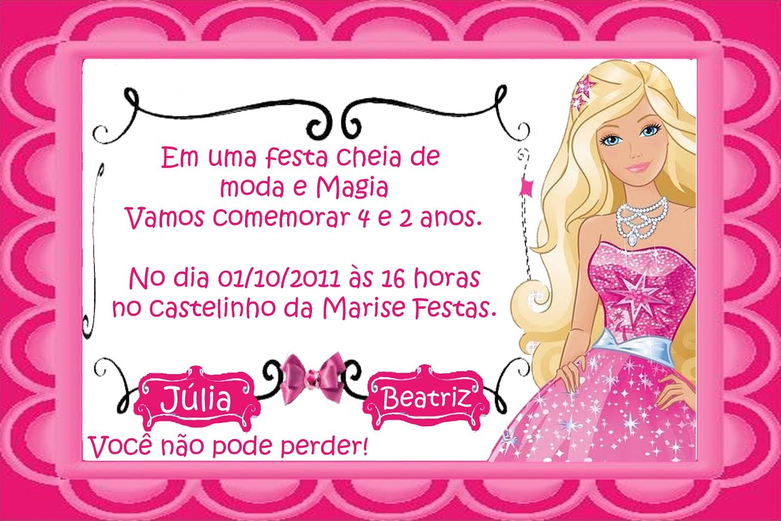 Festa Tema Barbie Moda E Magia