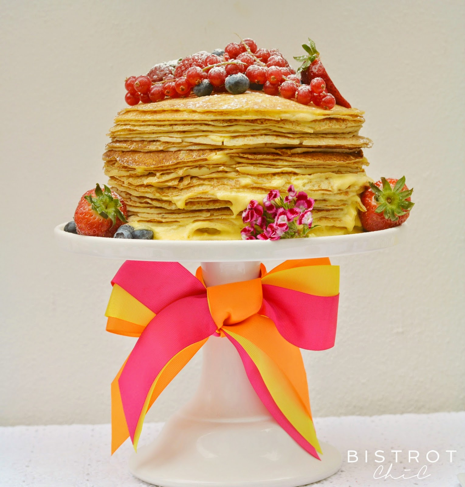 Spring Party Pancake Cake by BistrotChic