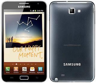 harga ponsel terbaru Samsung Galaxy Note 2012