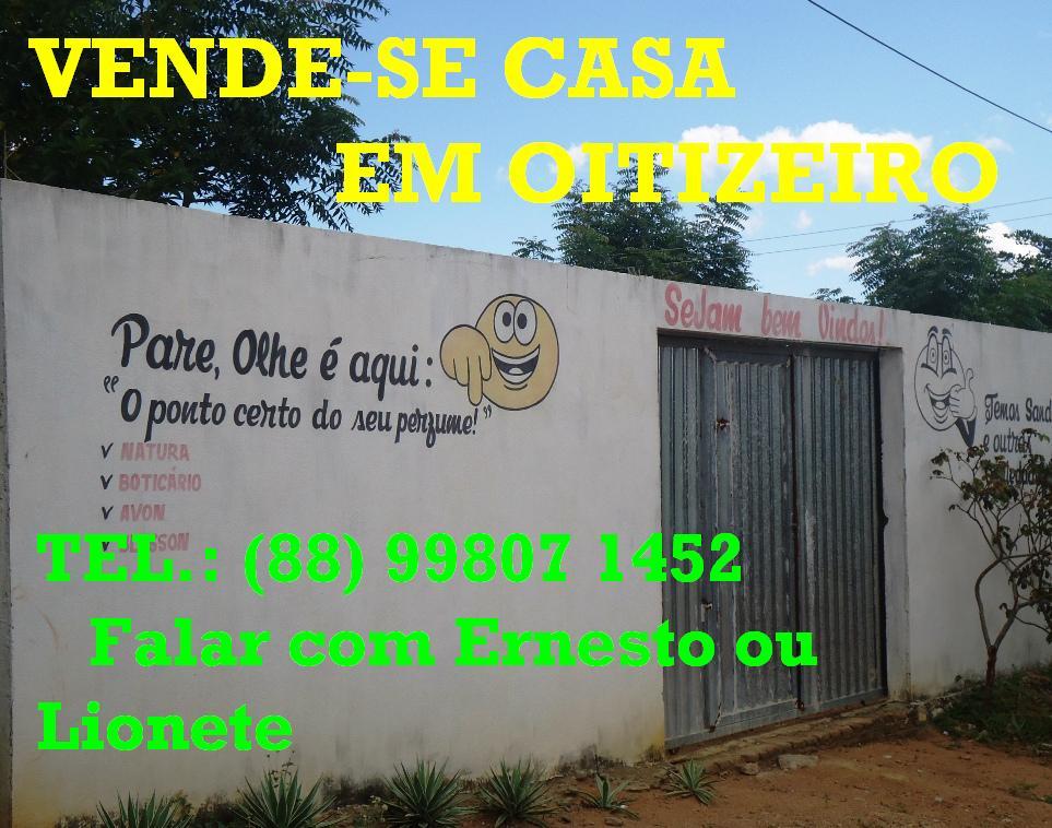 VENDE-SE CASA EM OITIZEIRO-RERIUTABA