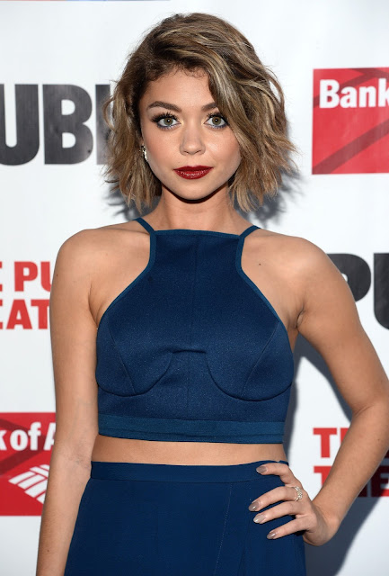 Actress @ Sarah Hyland - The Public Theater's Opening Night Of The Tempest in NY