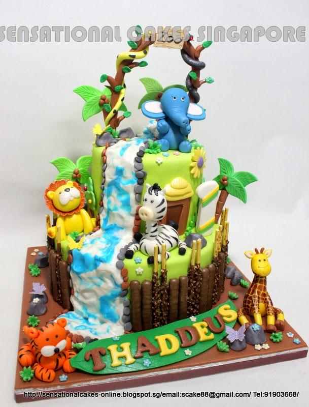The Sensational Cakes 3d Animal Cakes Singapore Zoo Animals