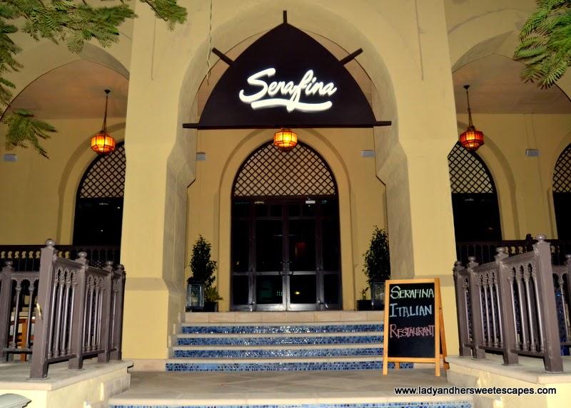 Serafina Italian Restaurant in Souk Al Bahar Dubai