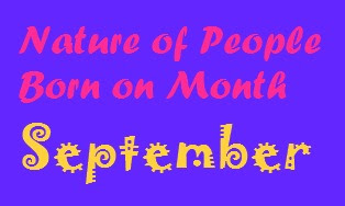 Nature of People born on Month September