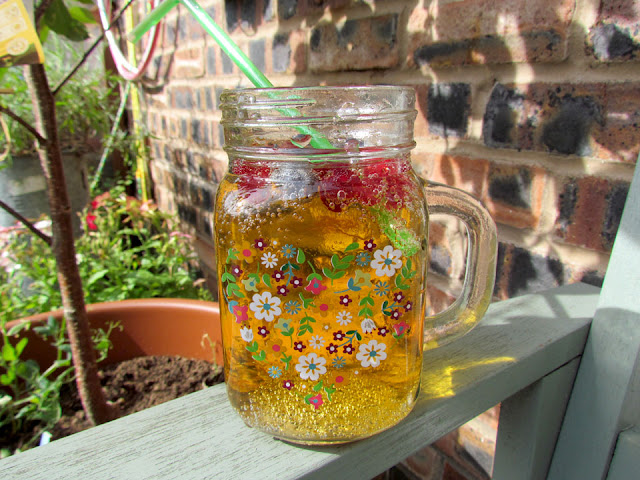 apple drink in pretty jar
