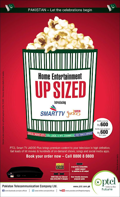 PTCL Home Entertainment Upsized - Discount on SmartTV
