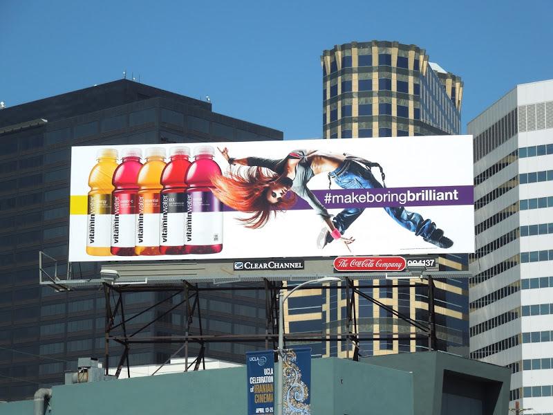 Vitamin Water Make Boring Brilliant billboard